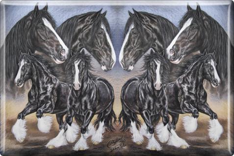 MAGNET -Haflinger Pferde - 38657 - Kollektion Bötzel - Gr. ca. 8 x 5, 5 cm - 38657