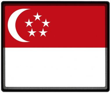 Mousepad Mauspad mit Motiv - Singapur Fahne - 82150 - Gr. ca. 24 x 20 cm