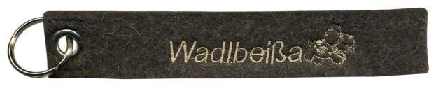 Filz-Schlüsselanhänger mit Stick Wadlbeißa Gr. ca. 19x3cm 14008 braun