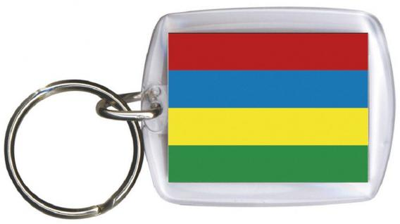 Schlüsselanhänger Anhänger - MAURITIUS - Gr. ca. 4x5cm - 81105 - Keyholder WM Länder