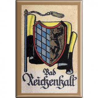 Küchenmagnet - Wappen Bad Reichenhall - Gr. ca. 8 x 5, 5 cm - 37508 - Magnet Kühlschrankmagnet