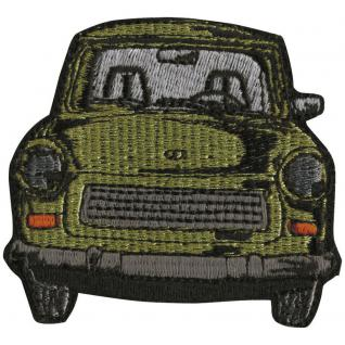 AUFNÄHER - Oldtimer Car - N-OSTALGIE DDR TRABI - 04706 - Gr. ca. 6 x 7 cm - Patches Stick Applikation