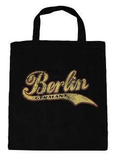(10689-Tasche) Umweltfreundliche Baumwoll - Tasche , ca. 28 x 43 cm mit Aufdruck? Berlin?