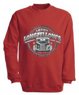 Sweatshirt mit Print - Longfellows - versch. farben zur Wahl - S10281 - Gr. rot / M