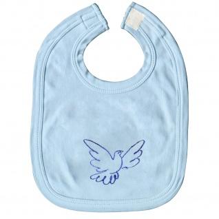 Schlabberlatz Baby-Lätzchen mit Einstickung - Tauben - TB315 hellblau