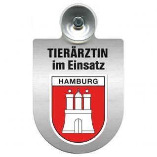 Einsatzschild für Windschutzscheibe incl. Saugnapf - Tierärztin im Einsatz - 309474-15 - Region Hamburg
