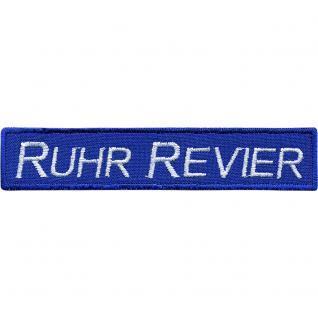 AUFNÄHER - Patches - Stick - Applikation - Ruhr Revier - 00614 - Gr. ca. 10 x 2 cm