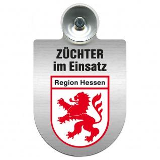 Einsatzschild Windschutzscheibe incl. Saugnapf - Züchter im Einsatz - 309384 Region Hessen
