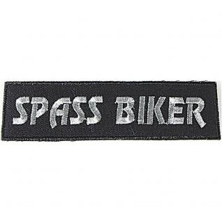 AUFNÄHER - Spass Biker - 04046 - Gr. ca. 11 x 3 cm - Patches Stick Applikation