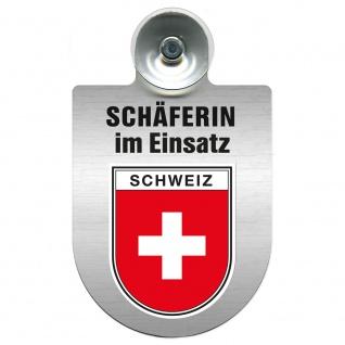 Einsatzschild Windschutzscheibe incl. Saugnapf - Schäferin im Einsatz - 309459 Region Schweiz