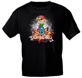 Kinder T-Shirt - SKATER- BOY - 12446 - schwarz - Gr. 98-164