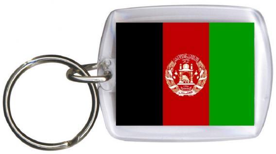 Schlüsselanhänger Anhänger - AFGHANISTAN - Gr. ca. 4x5cm - 81005 - WM Länder