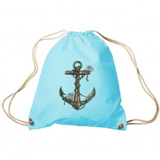 Sporttasche Turnbeutel Trend-Bag Print Maritim Anker Anchor TB10987 hellblau