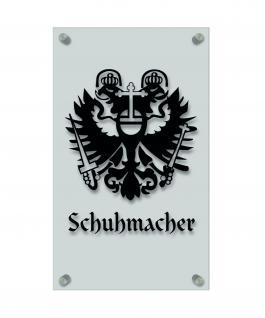 Zunftschild Handwerkerschild - Schumacher - beschriftet auf edler Acryl-Kunststoff-Platte ? 309419 schwarz