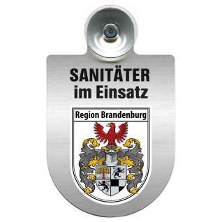 Einsatzschild Windschutzscheibe incl. Saugnapf - Sanitäter im Einsatz - 309396- Regionen nach Wahl Region Brandenburg