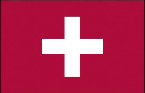 Stockländerfahne - Schweiz - Gr. ca. 40x30cm - 77145 - Länderflagge, Fahne, Schwenkflagge mit Holzstock