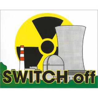 PST-Schild - SWITCH OFF - Gr. ca. 115 x 95 mm - 303203