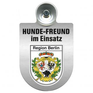 Einsatzschild Windschutzscheibe incl. Saugnapf - Hundefreund im Einsatz - 309383 Region Berlin