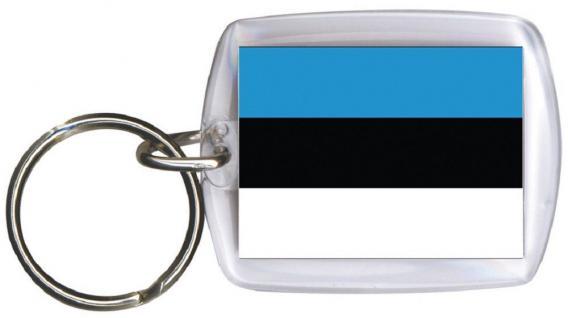 Schlüsselanhänger - ESTLAND - Gr. ca. 4x5cm - 81047 - WM Länder