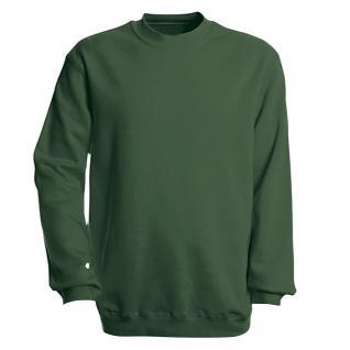 Sweat-Shirt unisex ohne Print in 14 farben Gr. S-XXL 41375 grün / XL