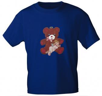 T-Shirt mit Print - Teddy Bär - 06948 - versch. Farben zur Wahl - Royal / L - Vorschau 1