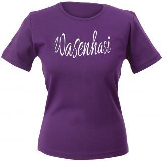Girly-Shirt mit print - Wasenhasi - 12617 - versch. farben zur Wahl - Gr. XS-XXL