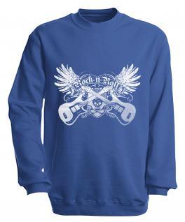 Sweatshirt - Rock´n Roll - S10248 - versch. farben zur Wahl - Gr. S-XXL blau / L