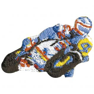 AUFNÄHER - Biker - 02005 - Gr. ca. 3 x 2 cm - Patches Stick Applikation