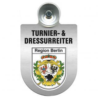 Einsatzschild Windschutzscheibe incl. Saugnapf - Turnier- und Dressurreiter im Einsatz - 309471-14 Region Berlin