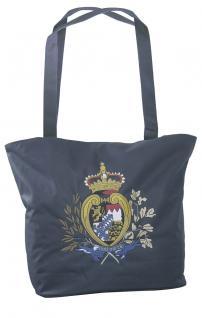 Umhängetasche mit Einstickung Einkaufstasche Bag Bayern 08990 dunkelblau