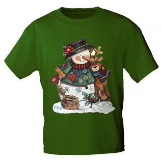 Kinder T- Shirt mit Motivdruck Schneemann u. Rentier K06948-2 134/146 - Vorschau