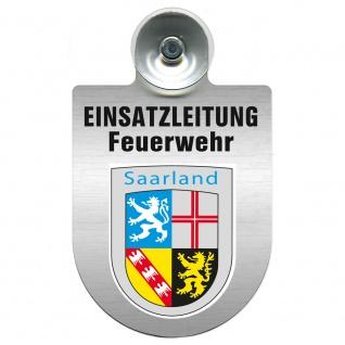 Einsatzschild Windschutzscheibe incl. Saugnapf - Einsatzleitung Feuerwehr - 309476 Region Saarland