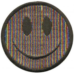 Aufnäher - Smiley bunt - 01991 - Gr. ca. 6cm - Patches Stick Applikation