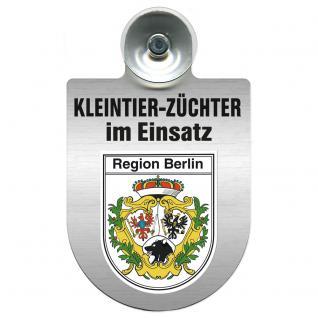 Einsatzschild Windschutzscheibe incl. Saugnapf - Kleintierzüchter im Einsatz - 309360-14 - Region Berlin