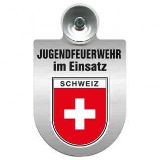 Einsatzschild Windschutzscheibe incl. Saugnapf - Jugendfeuerwehr im Einsatz - 393822 - Region Schweiz