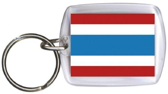 Schlüsselanhänger Anhänger - THAILAND - Gr. ca. 4x5cm - 81167 - Keyholder WM Länder