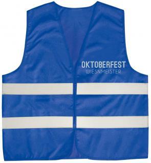 Warnweste mit Vorder- und Rückenaufdruck - WIESENMEISTER - 10319 blau 3XL