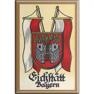 Küchenmagnet - Wappen Eichstädt Bayern - Gr. ca. 8 x 5, 5 cm - 37518 - Magnet Kühlschrankmagnet