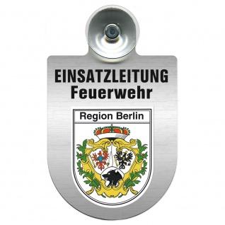Einsatzschild Windschutzscheibe incl. Saugnapf - Einsatzleitung Feuerwehr - 309476 Region Berlin