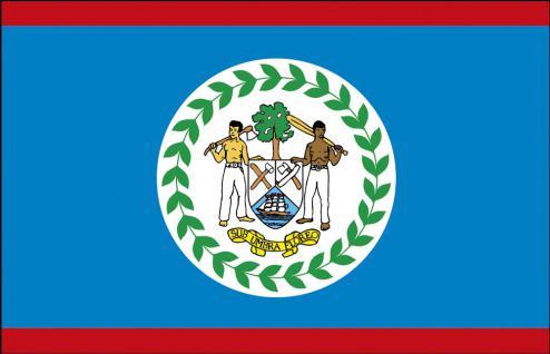 Auto-Flagge - Belize - Gr. ca. 40x30cm - 78024 - Länderflagge mit Klemmstab, Autoländerfahne
