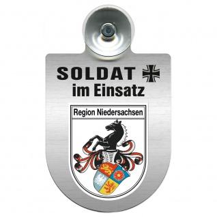 Einsatzschild Windschutzscheibe incl. Saugnapf - Soldat im Einsatz - 309392 - Region Niedersachsen