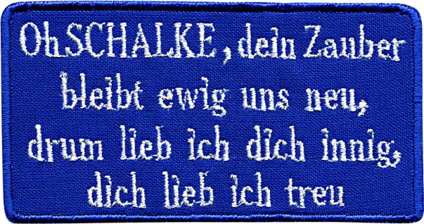 AUFNÄHER - NEU - 00755 - Gr. ca. 10 cm x 5 cm - Patches Stick Applikation Bügel-Emblem