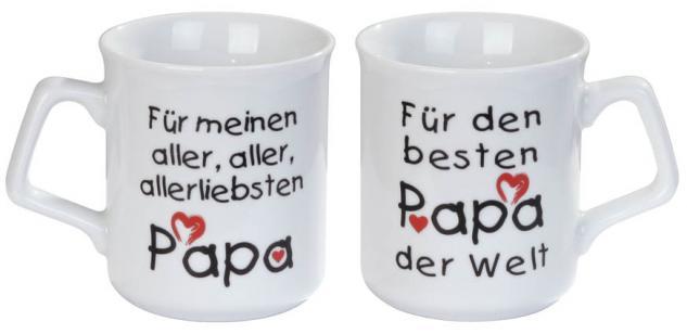 Tasse mit Print für meinen allerliebsten Papa weiß 57282