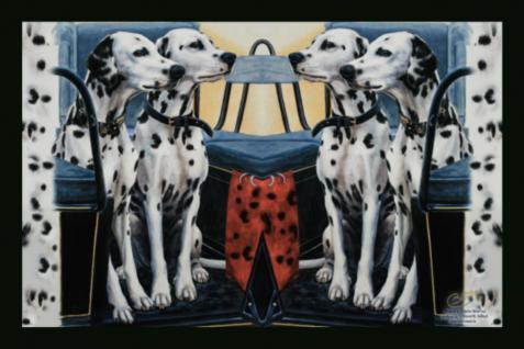 Fußabtreter mit Hunde-Motiv - DALMATINER - 25016 - Gr. ca. 60x40cm - Fußmatte Schmutzfänger