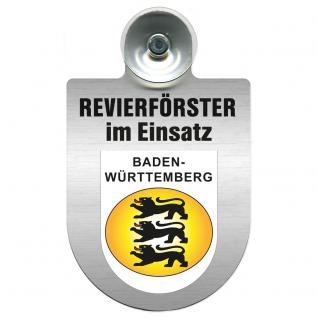 Einsatzschild Windschutzscheibe incl. Saugnapf - Revierförster im Einsatz - 309376-1 - Region Baden-Württemberg