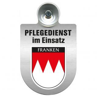 Einsatzschild Windschutzscheibe incl. Saugnapf - Pflegedienst im Einsatz - 309358-18 - Region Franken
