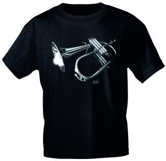Designer T-Shirt - Flugelhorn Jazz - von ROCK YOU MUSIC SHIRTS - 10744 - Gr. M
