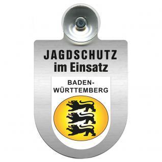 Einsatzschild Windschutzscheibe incl. Saugnapf - Jagdschutz im Einsatz - 309368-1 - Region Baden-Württemberg