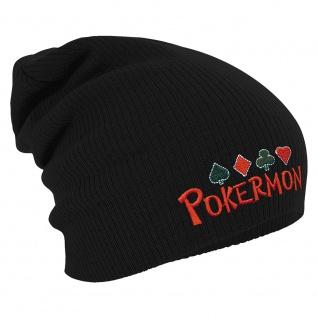 Longbeanie Slouch-Beanie Wintermütze Pokermon 54865 schwarz