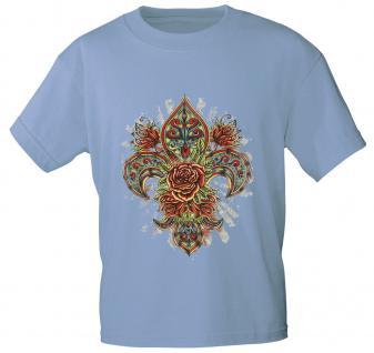 T-Shirt mit Print - Fantasy Rose - 10891 - versch. Farben zur Wahl - hellblau / M
